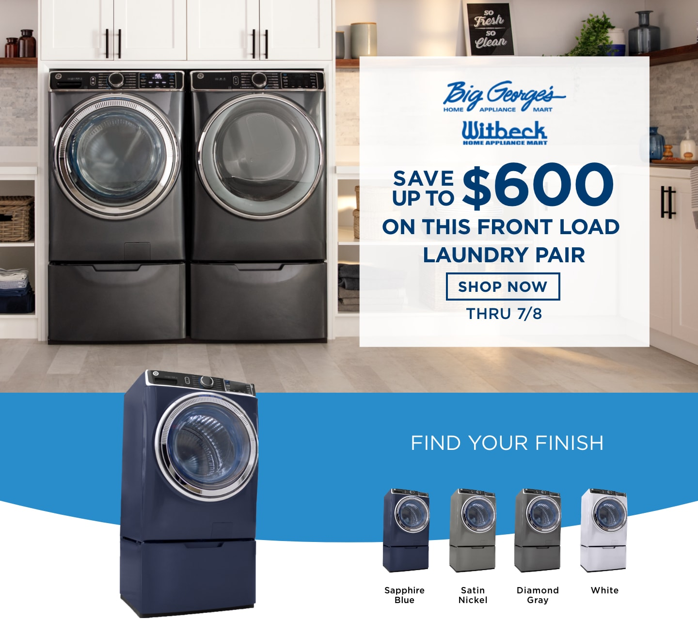 Ge Ultrafresh Front Load Washer Big George S Home Appliance Mart Ann Arbor Mi