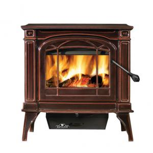 Napoleon FireplacesBanff Series Cast Iron Wood Burning Stove Majolica Brown