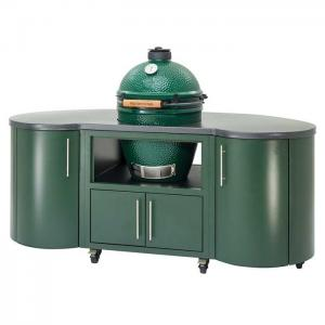 "Big Green Egg76"" Custom Aluminum Cooking Island for Large EGG"