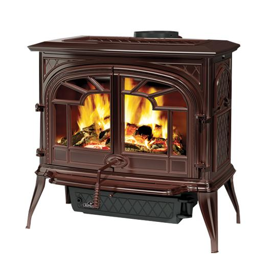 1600cn 1napoleon Fireplaces Banff Series Cast Iron Wood Burning Stove Majolica Brown Big