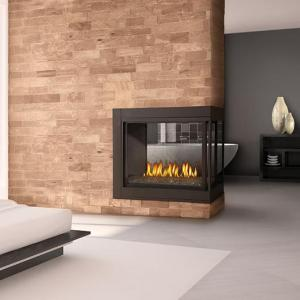 Napoleon FireplacesAscent Peninsula with Fire Cradle Natural Gas Fireplace
