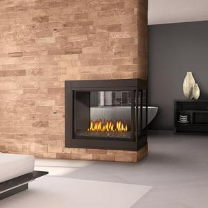Napoleon FireplacesHigh Definition Clean Face Peninsula with Glass Direct Vent Gas Fireplace