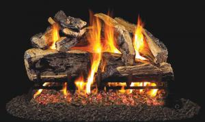 "Real Fyre24"" Charred Rugged Split Oak Log Set"