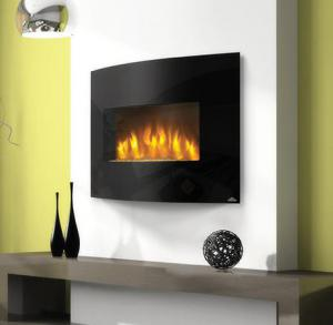 "Napoleon FireplacesSlimline Series 32"" Wall Hanging Electric Fireplace"