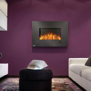 Napoleon FireplacesSlimline Series Wall Hanging Electric Fireplace with Heater