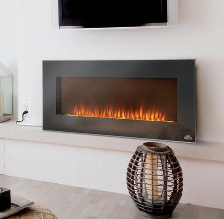 Napoleon Fireplaces Linear Azure Series 42 Wall Hanging Electric Fireplace With Heater