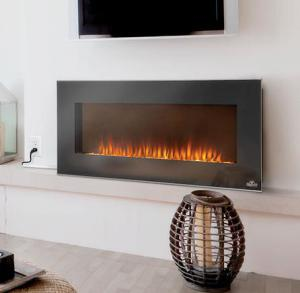 "Napoleon FireplacesLinear Azure Series 42"" Wall Hanging Electric Fireplace with Heater"