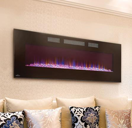 Efl50hnapoleon Fireplaces Linear Azure Series 50 Wall Hanging
