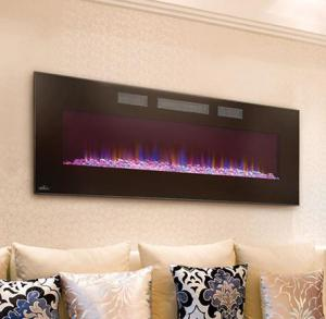 "Napoleon FireplacesLinear Azure Series 50"" Wall Hanging Electric Fireplace"