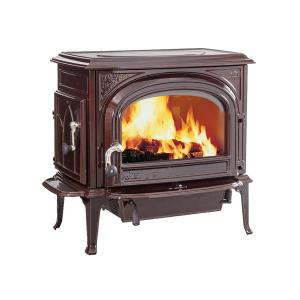 JotulOslo Clean Face Wood Stove - Brown Majolica