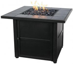 Blue RhinoLiquid Propane Gas Outdoor Firebowl with Slate Tile Mantel