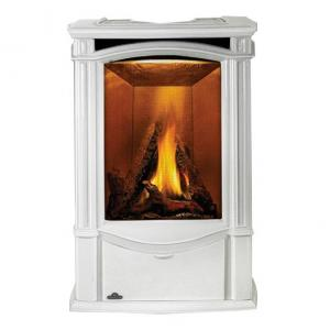 Napoleon FireplacesCastlemore Direct Vent Cast Iron Gas Stove - Winter Frost