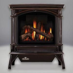 Napoleon FireplacesKnightsbridge Direct Vent/B Vent Cast Iron Gas Stove (Majolica Brown)