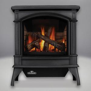 Napoleon FireplacesKnightbridge Direct Vent/B Vent Cast Iron Gas Stove (Metallic Black)