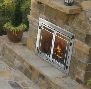 "Napoleon FireplacesRiverside Series 42"" Outdoor Natural Gas Fireplace"