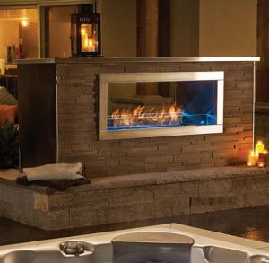 "Napoleon FireplacesGalaxy Series 48"" Outdoor Linear Natural Gas See-Thru Fireplace"