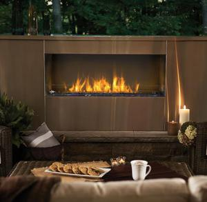 "Napoleon FireplacesGalaxy Series 48"" Outdoor Linear Natural Gas Fireplace"