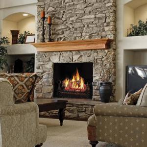 "Napoleon FireplacesFiberglow 18"" Vent Free Natural Gas Log Set"