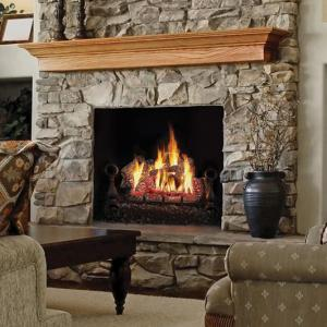 "Napoleon FireplacesFiberglow 30"" Vent Free Natural Gas Log Set"