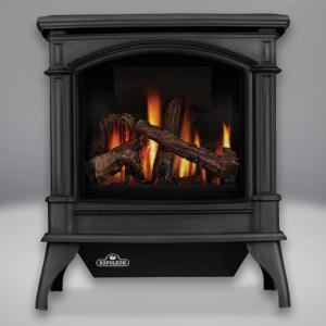 Napoleon FireplacesKnightsbridge Vent Free Cast Iron Natural Gas Stove (Metallic Black)