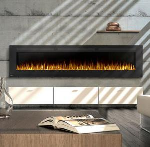 "Napoleon FireplacesAllure Series 100"" Wall Hanging Electric Fireplace"