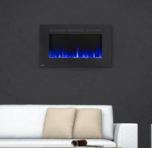 "Napoleon FireplacesAllure Series 42"" Wall Hanging Electric Fireplace"