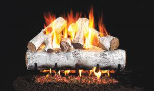 "Real Fyre30"" White Birch Gas Log Set"