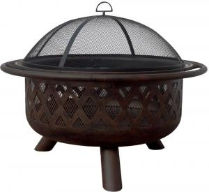 Blue RhinoOil Rubbed Bronze Outdoor Firebowl