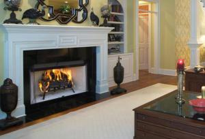 AstriaCraftsman 42 Radiant White Herringbone Refractory Wood-Burning Fireplace