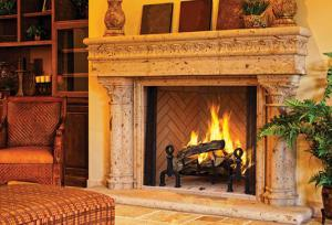 "AstriaGeorgian 36"" Wood Burning Fireplace"