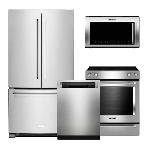 discount package kitchenaid stainless steel kitchen package. Black Bedroom Furniture Sets. Home Design Ideas