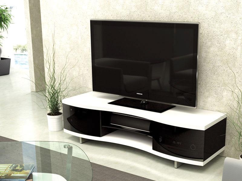 8137swbdi Ola 8137 Contemporary Tv Cabinet Satin White Satin White