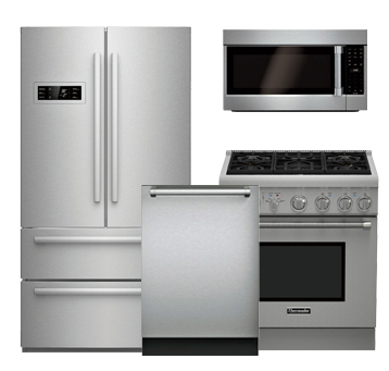 discount package thermador stainless steel kitchen package. Black Bedroom Furniture Sets. Home Design Ideas