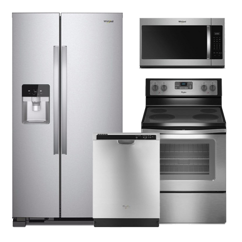 discount package whirlpool stainless steel kitchen package. Black Bedroom Furniture Sets. Home Design Ideas